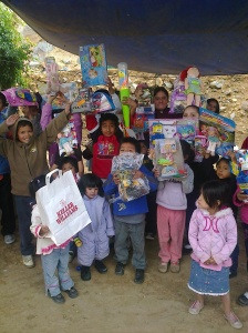 A toy was collected for every child in the colonias we serve..